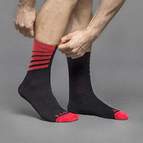 GripGrab Racing Stripes Socks black/red